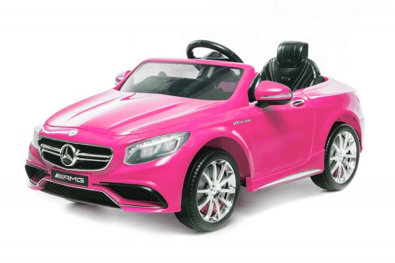 elektroauto f r kinder mercedes amg s63 in pink. Black Bedroom Furniture Sets. Home Design Ideas